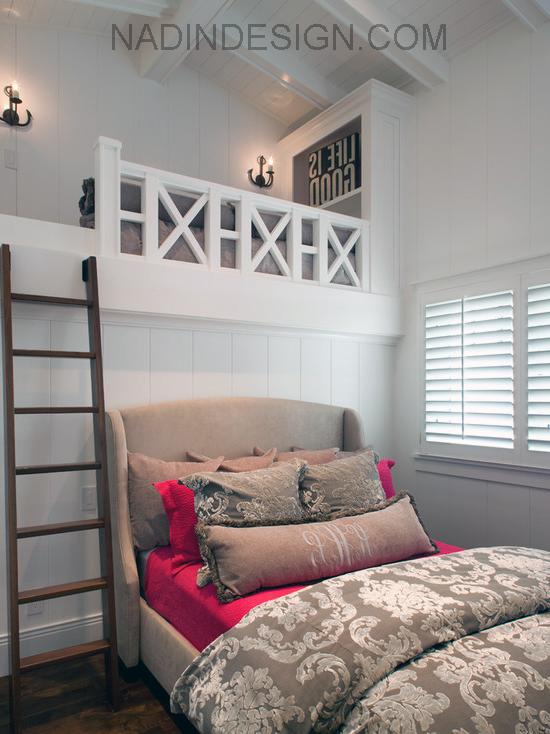 пляжный дизайн спальни